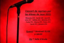 Concert au Collège ce vendredi 31 !